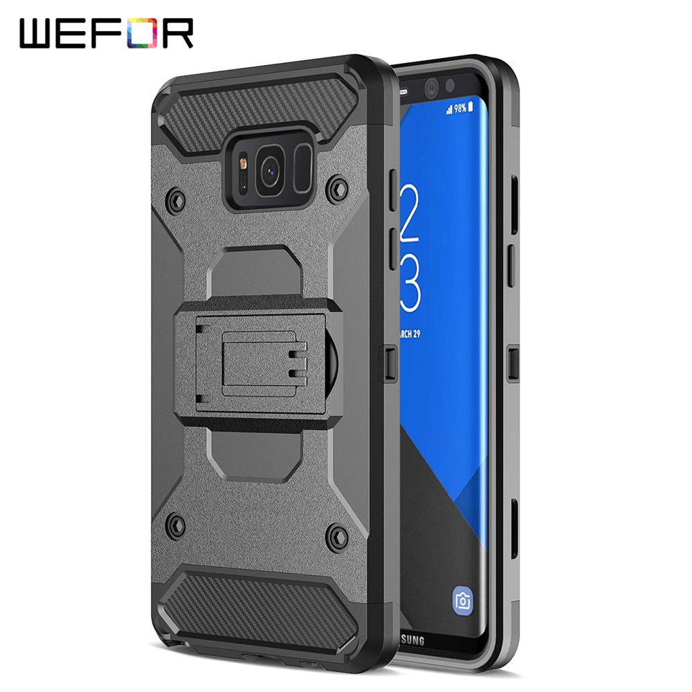 Samsung Galaxy S8 Plus XGEAR Armor w Holster Case Full Protection