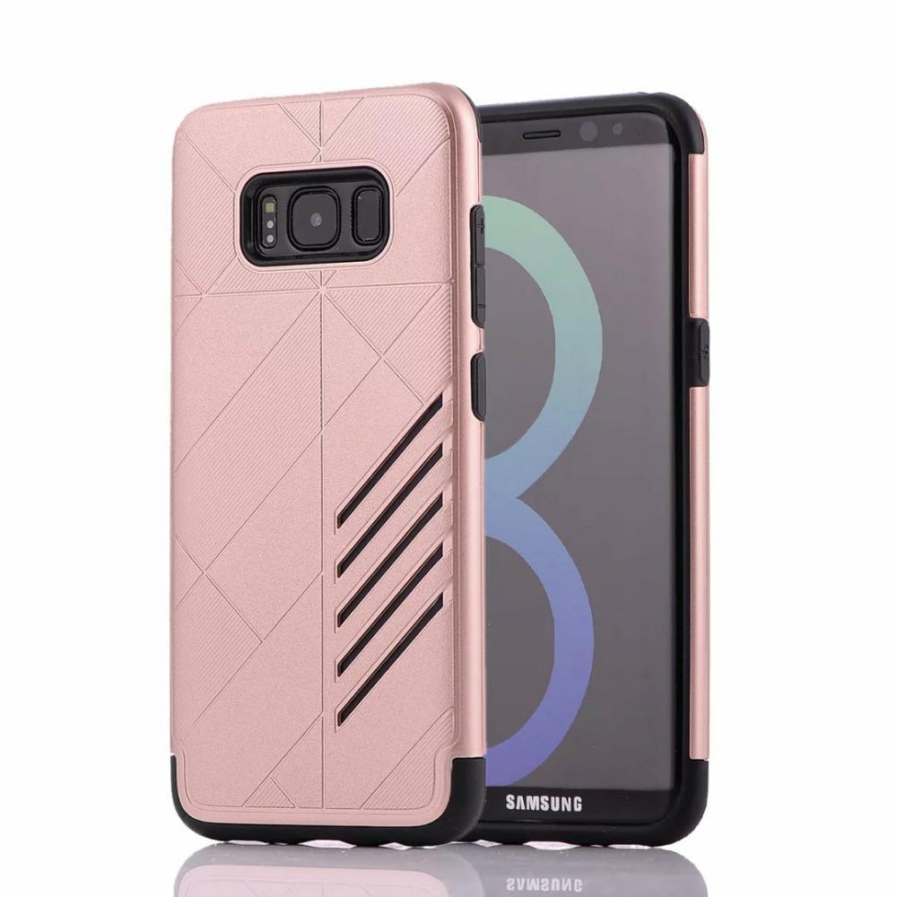 Samsung Galaxy S8 Shark Stripe Elegant Dual Layer Armor Case