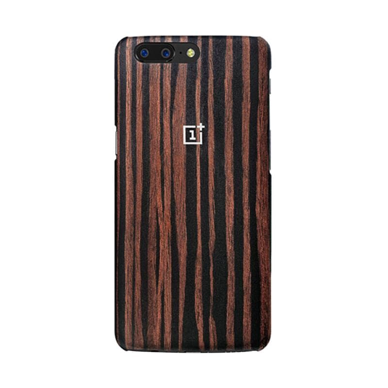 OnePlus 5 Official Style Cover - Ebony Wood