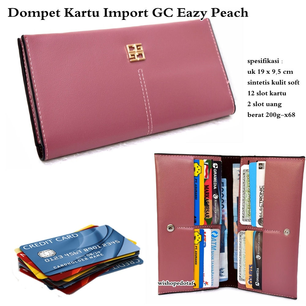 Jual Kp1530 Dompet Kartu Import Multifungsi Gc Eazy Peach Kode Card Holder Kulit Tyr1586 Tteard Tokopedia