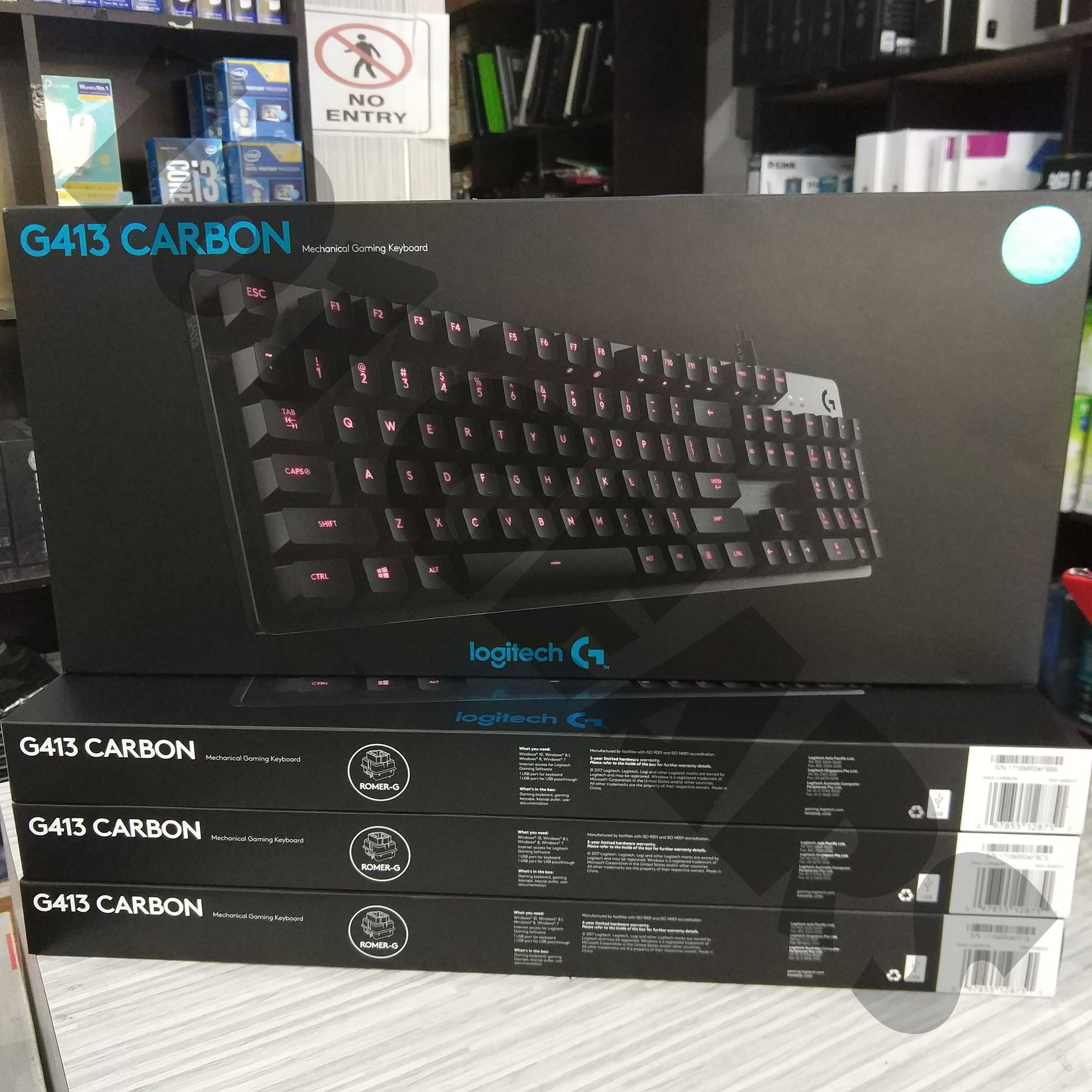 Jual Logitech G413 Carbon Mechanical Backlit Gaming Keyboard 101 Gears Tokopedia