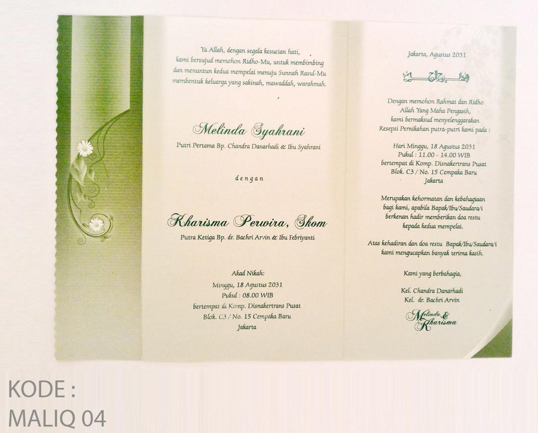 Undangan Pernikahan Murah Harga Grosir
