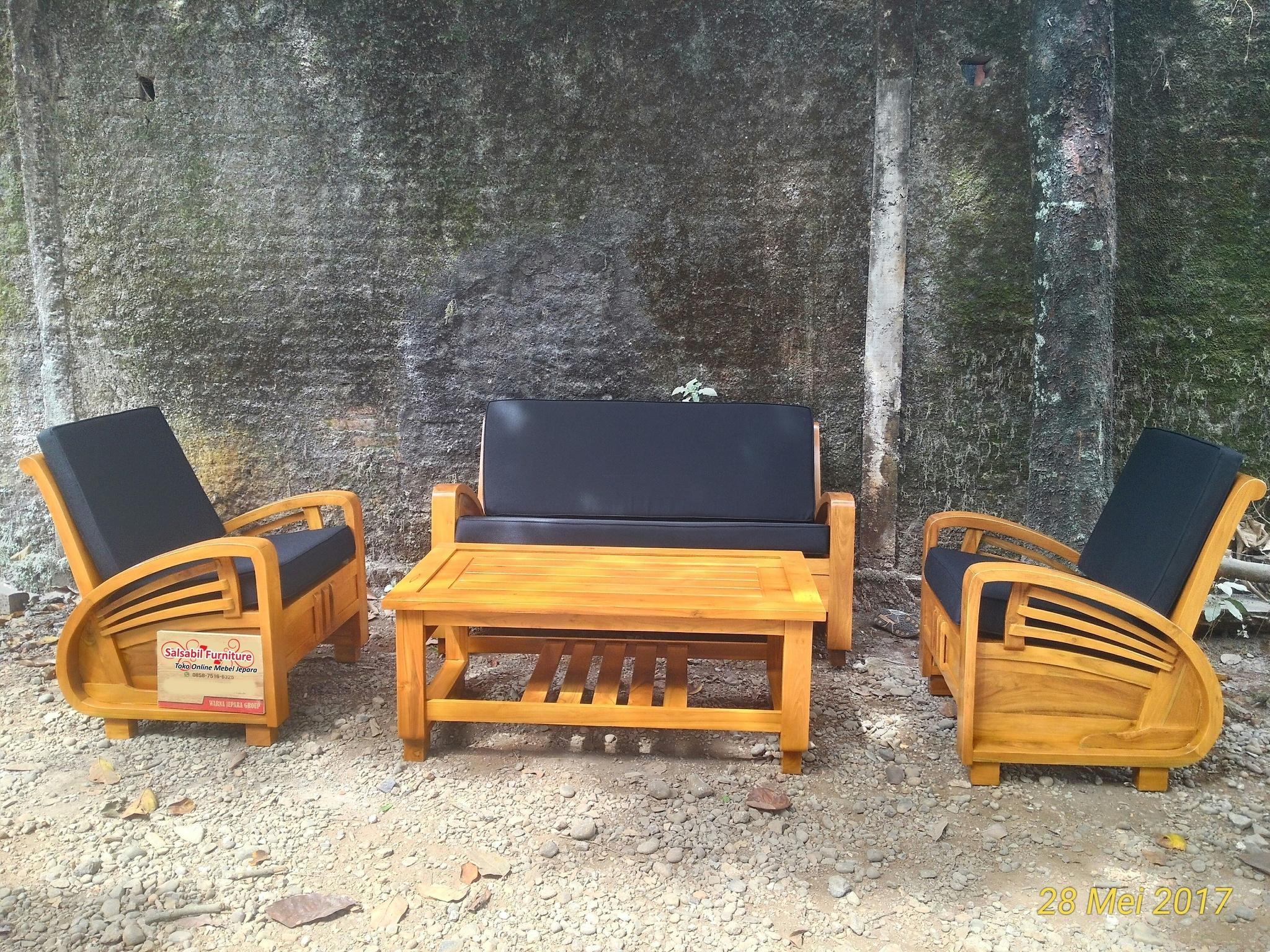 Set Kursi Tamu Sedan Minimalis Jati - Salsabil Furniture - 085875166325 (WA)