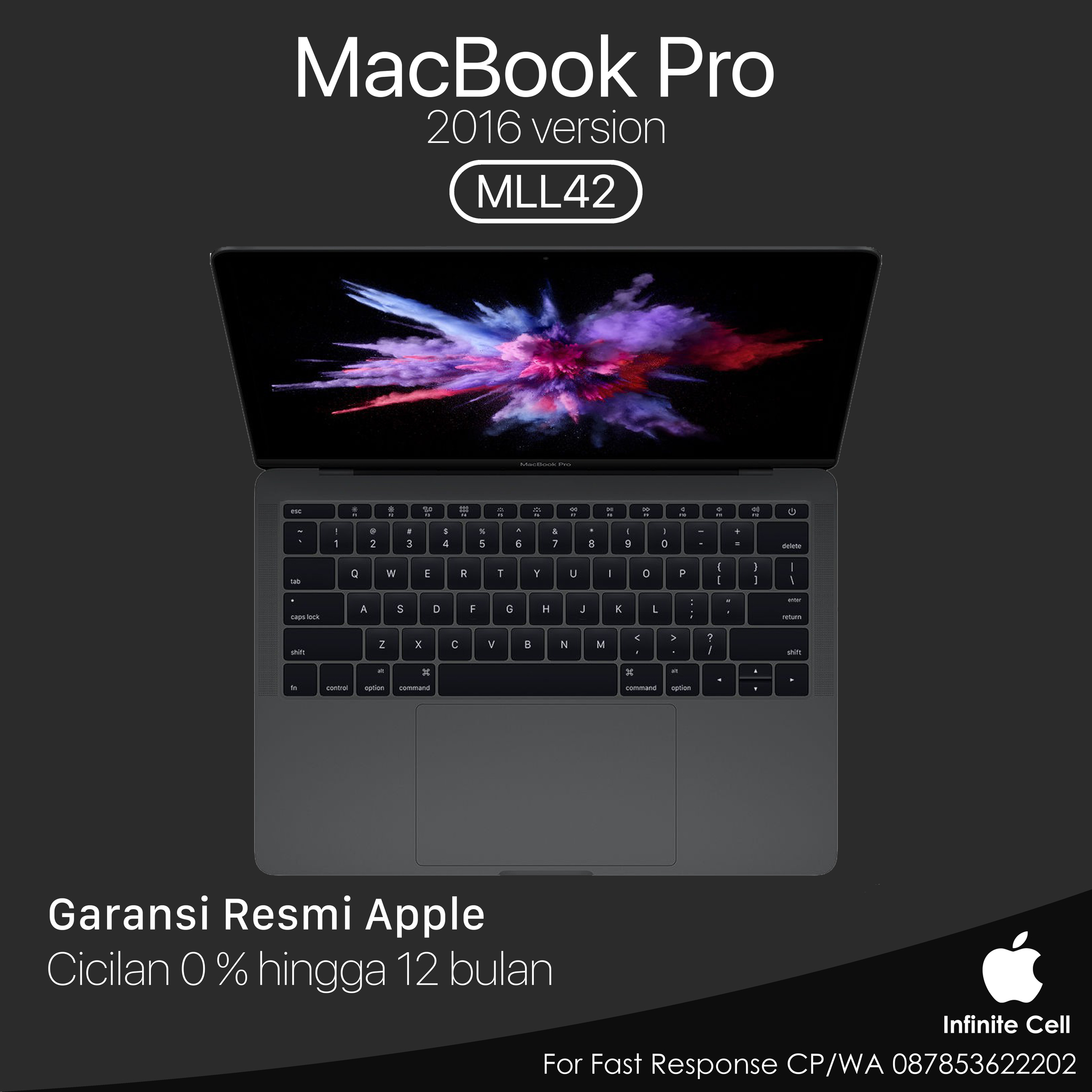 Jual Macbook Pro Retina Mll42 13 Core I5 20ghz 8gb 256gb Ssd Iris Apple Grey 540 Infinite Cell Tokopedia