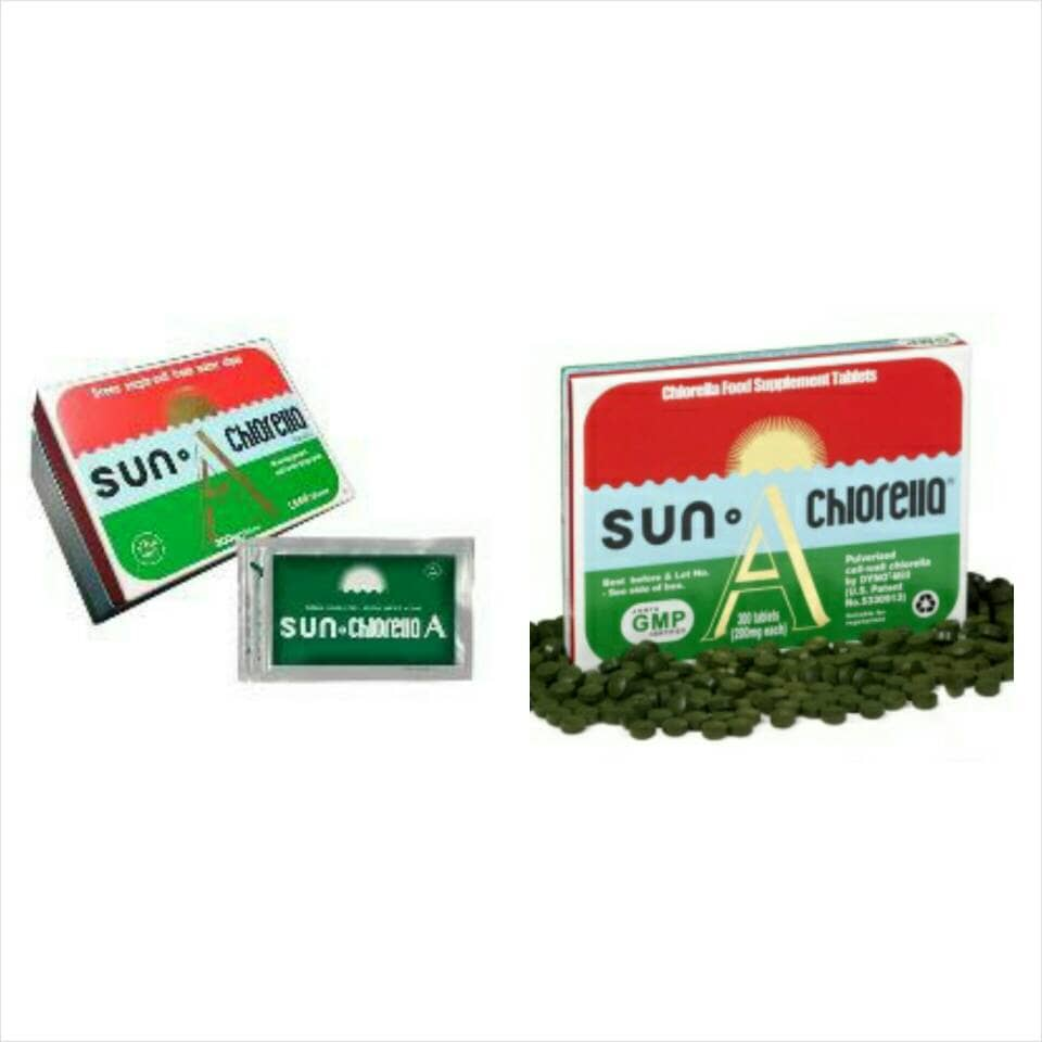Jual Sun Chlorella A Cni Import 300 Tablet Wooden Kitty Tokopedia