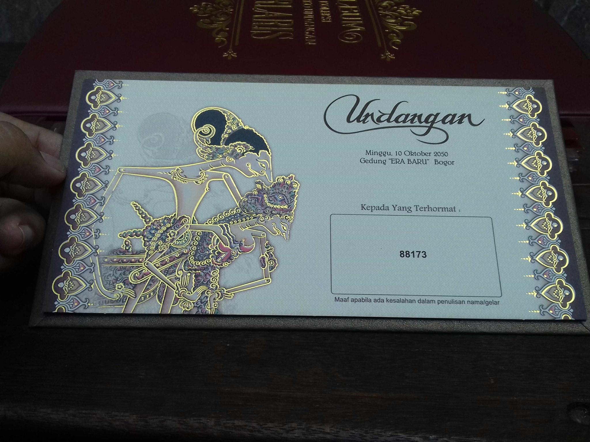 Jual Undangan Pernikahan Murah 88173 Fancy Dalvin Tokopedia Kartu Kode Blangko 88186