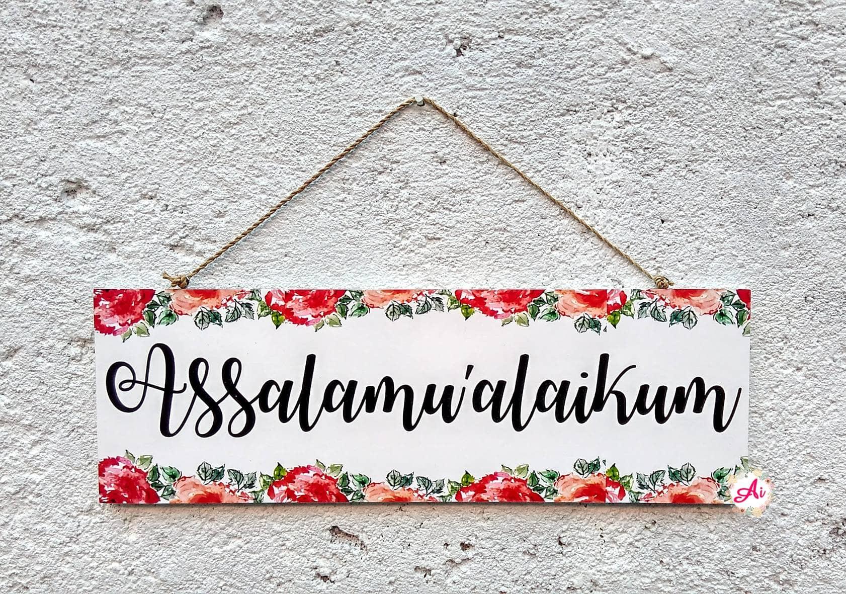 Jual Produk Ukm Dekorasi Rumah L Wall Decor Hiasan Dinding Bumn Travel Bag Small Size Shabby Chic Assalamualaikum 11