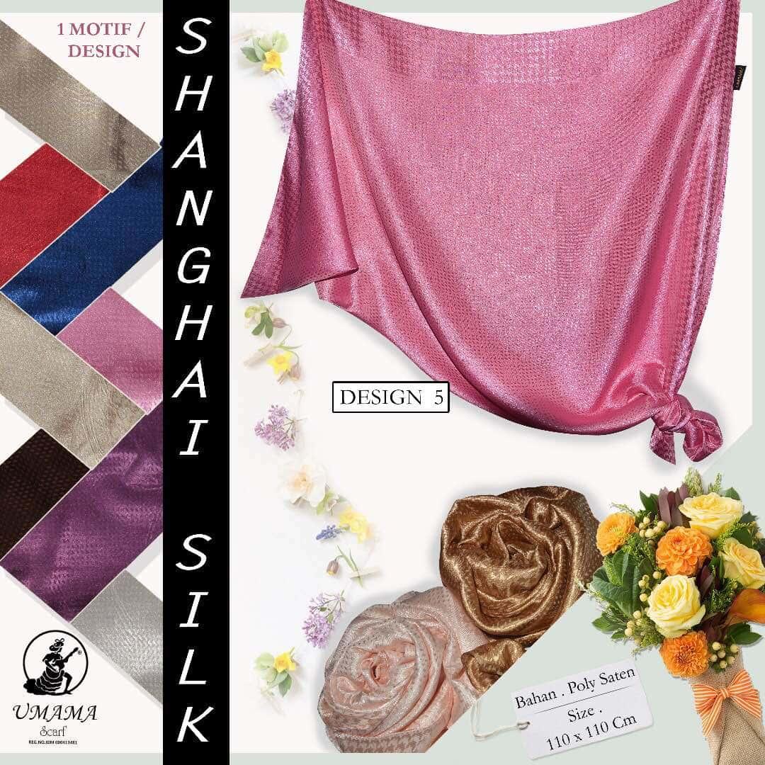 Jual Kerudung Shanghai Silk Segiempat Satin UMAMA Hijab Jilbab