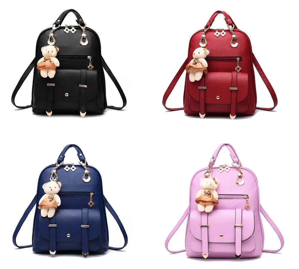 Tas Wanita Ransel Selempang Wanita Branded Import Korea Doll Backpack -  Merah Muda - Jakarta 67cb1106bd