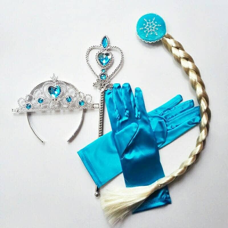 Aksesoris Elsa Rambut Tongkat Mahkota Sarung Tangan thumbnail