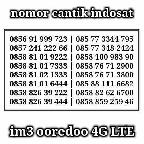 nomorcantikspesial Lazada Indonesia Source Harga Indosat Im 3 Nomor Cantik 0857 91 999 .