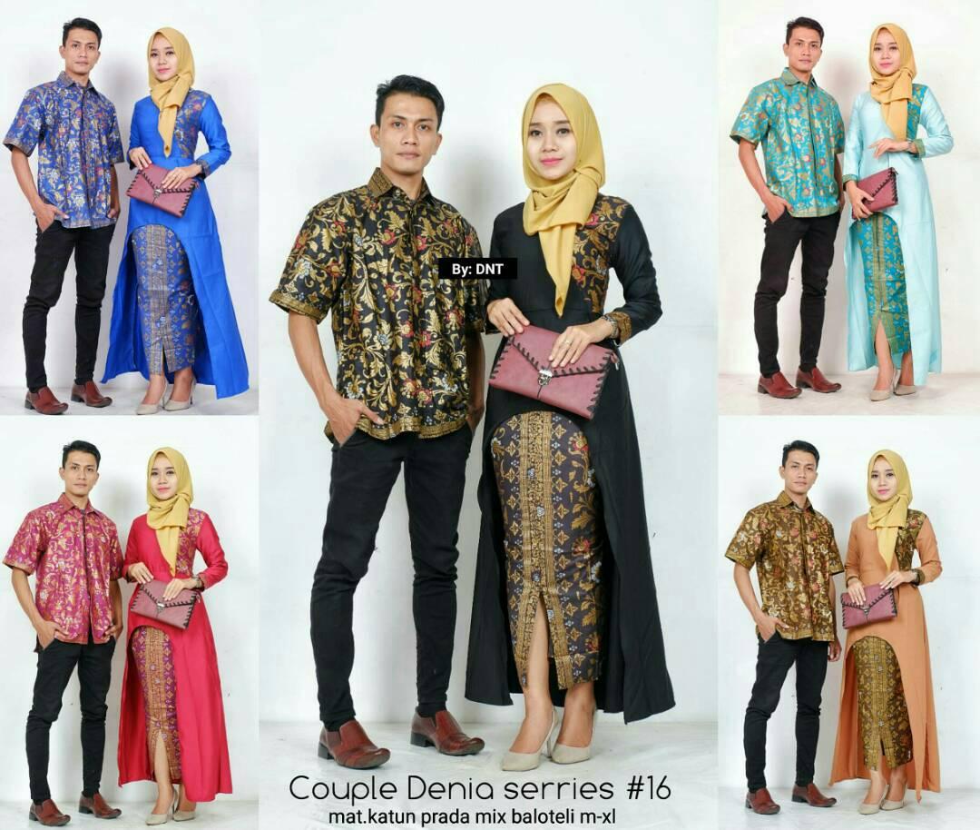 BELI Baju batik couple modern gamis muslim couple modern 903f3fb6cd