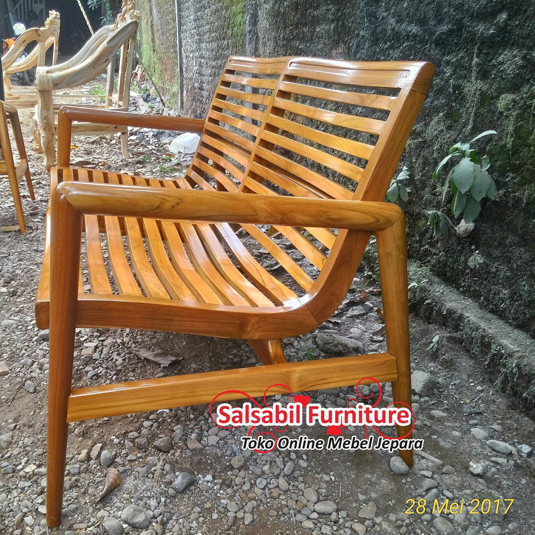Kursi Retro Finger Arms 2 Seater - salsabilfurniture.com - +6285875166325