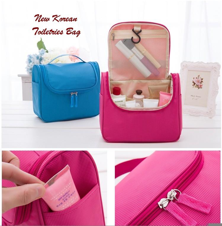 Korean travel toiletries bag tas kosmetik dan make up Perabotan Source Jual NEW KOREAN TOILETRIES BAG