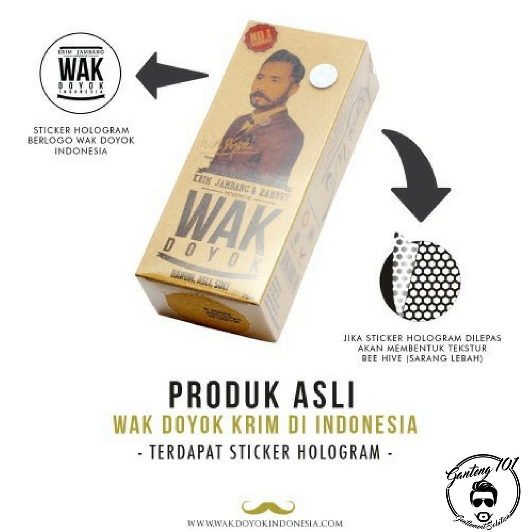 Jual Wak Doyok 75ml Original Hologram Krim Penumbuh Jambang Alis Rambut Wedang101 Herbal Tokopedia