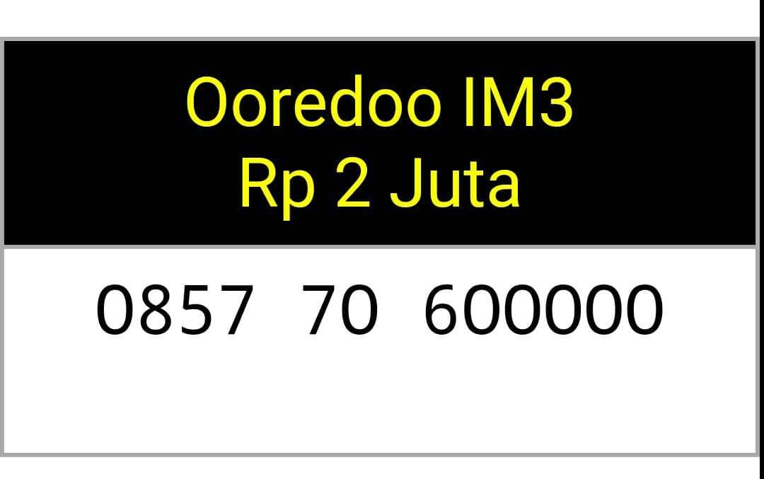 Jual nomor cantik(0857 706 00000)seri panca buntut,indosat im3 ooredoo -