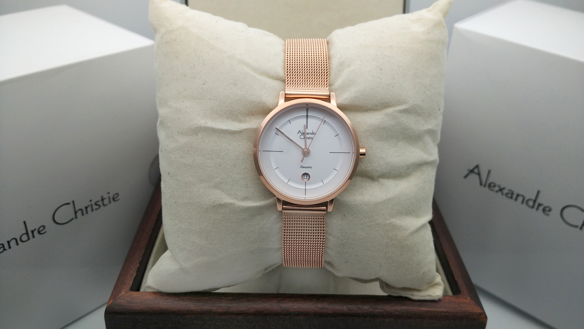 Jual Alexandre Christie AC 2636 Rose Gold White For Ladies Original ... 42670a30b1