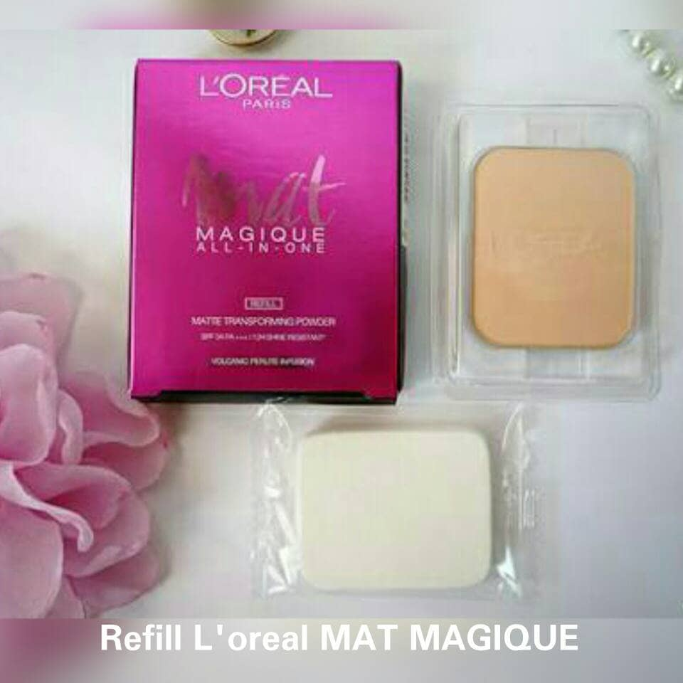 Jual REFILL L'OREAL Loreal MAT MAGIQUE All In One - Bedak Two Way Cake - Oro Bellezza | Tokopedia