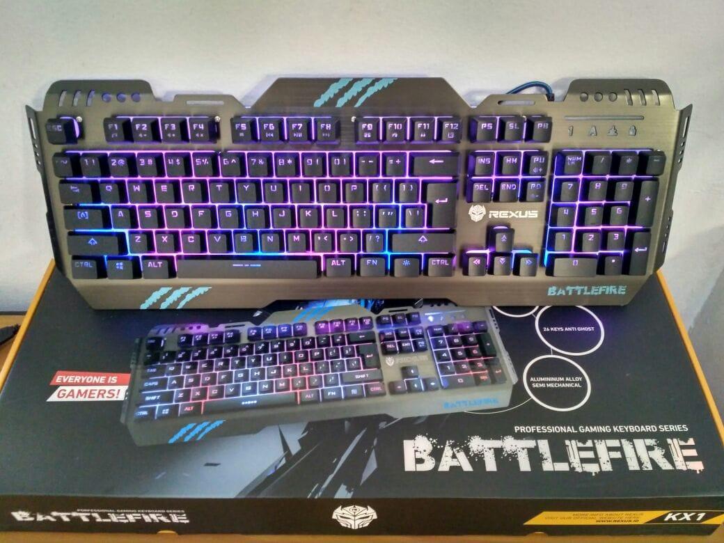 Jual Keyboard Gaming Rexus Battlefire Kx1 Semi Mechanical Backlight Odomart Bui Tokopedia