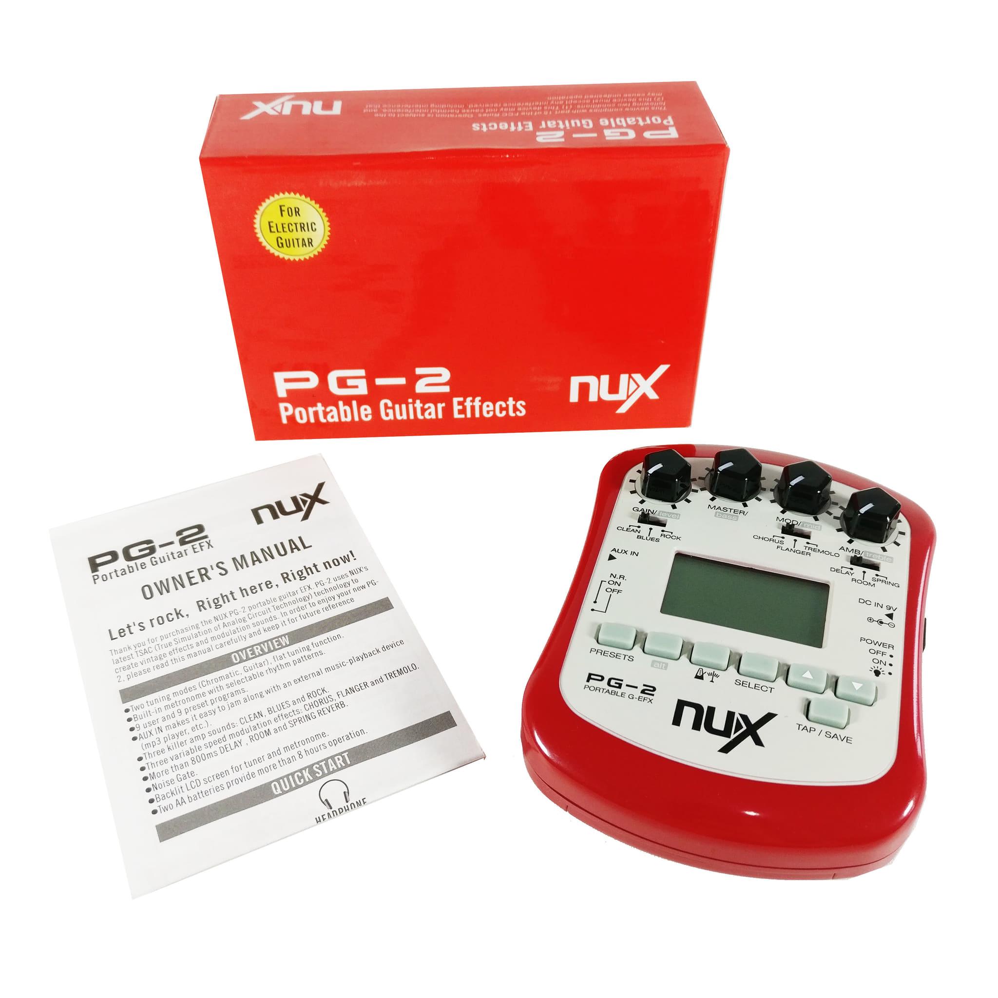 harga Efek Gitar (tuner, Metronome, Efek) Nux Pg - 2 Portable Guitar Efx Blanja.com