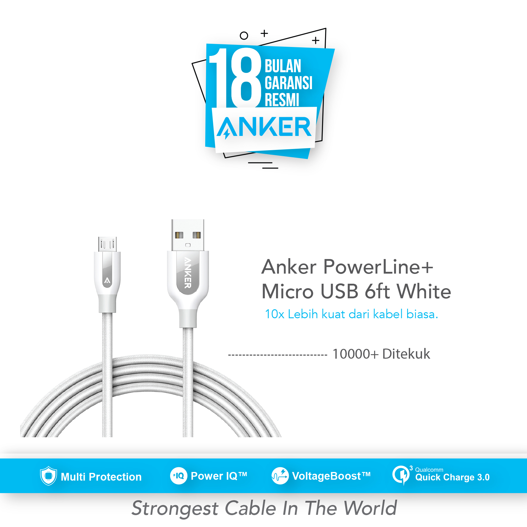 Anker Powerline Usb C To A 30 3ft90cm Red A8168h91 Daftar 3ft White A8163021 Micro Cable 6ft 18m A8143h21