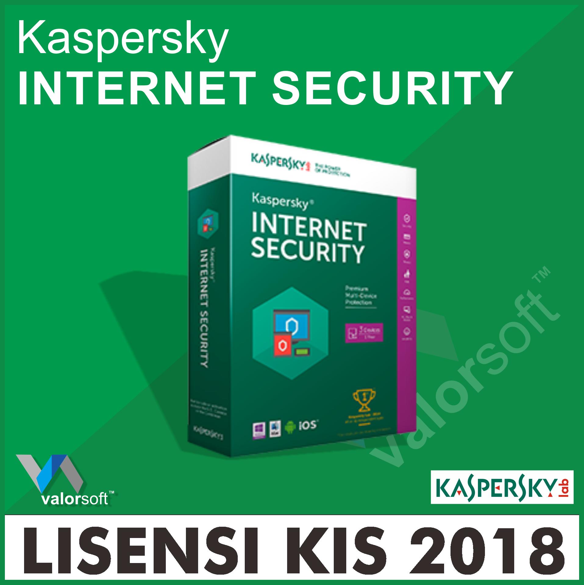 Jual Lisensi Kaspersky Internet Security 2018 1pc 1 Tahun Antivirus 4 Pc 2 Thn Original Valor Tokopedia