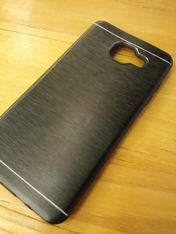 Samsung A5 2016 Elegant Metal Shield Brush Texture Soft Armor Case