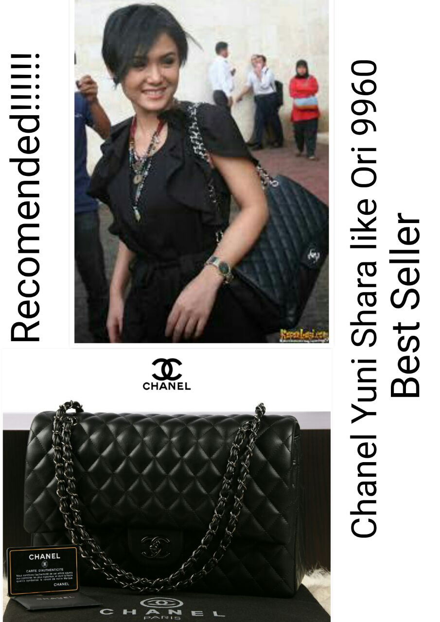Jual Tas Chanel Maxi Yuni Shara Lambskin Semi Ori Terlaris 9960 ... a8fc6e2af7