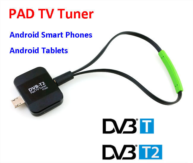 Pad TV DVB - T2 Receiver for Android Phone Tablet Micro USB TV Tuner Sti