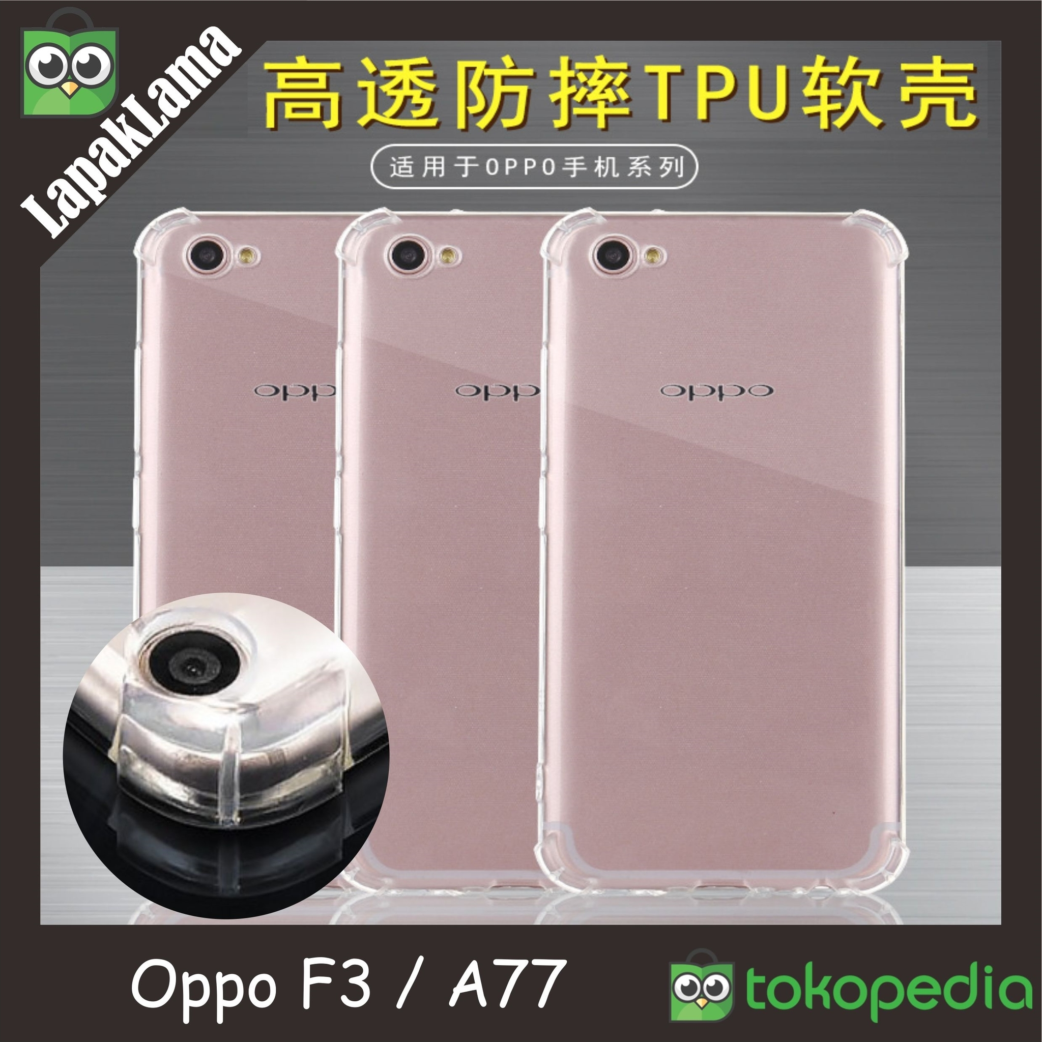 Jual Case Anti Crack Oppo F3 A77 Soft Back Case Casing Anti Knock Putih lapaklama