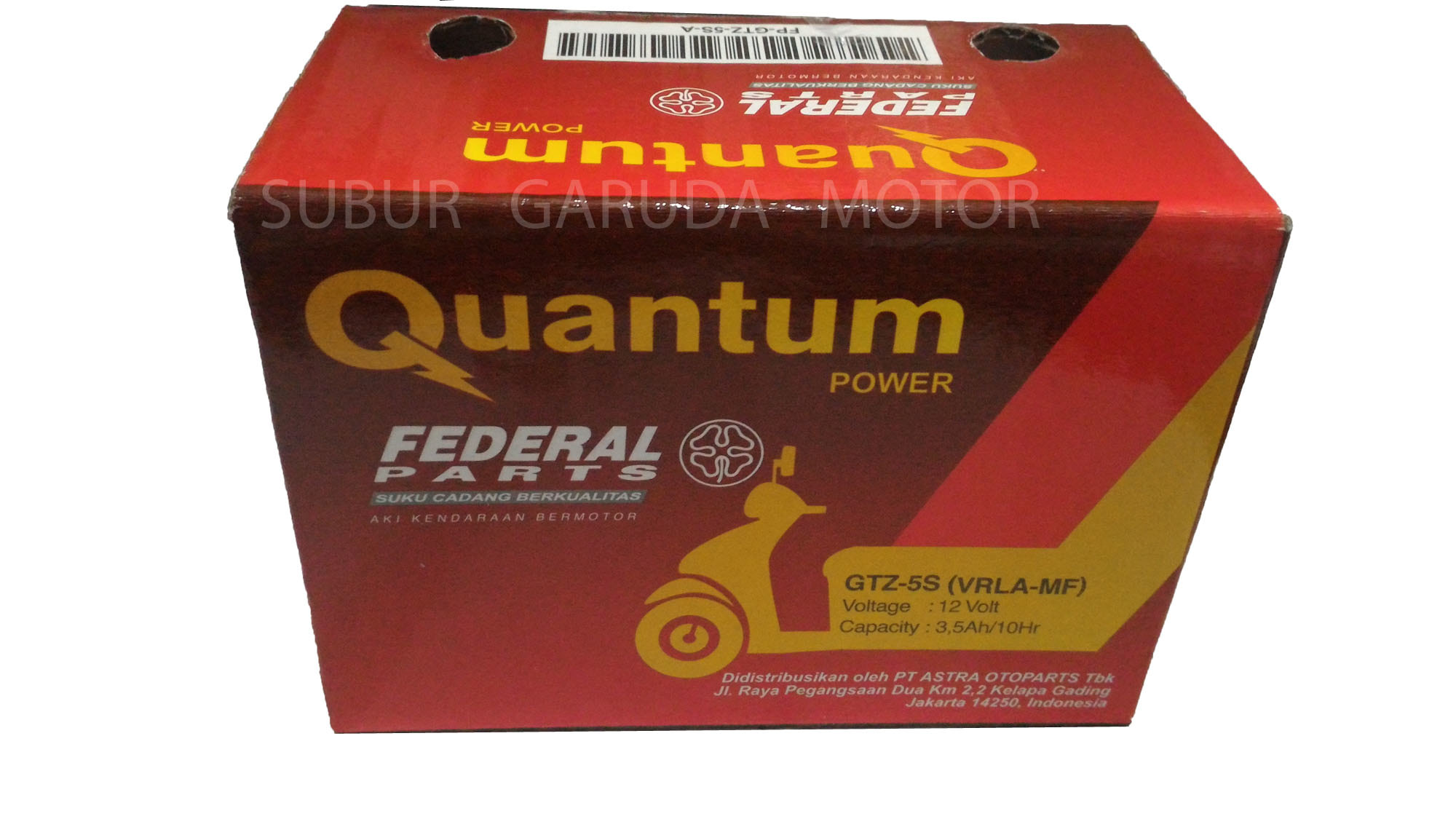 Jual Aki Kering Federal Quantum Power Gtz 5s Vrla Mf Vario Mio Accu Untuk Motor Supra Satria F Beat Garuda Parts Tokopedia