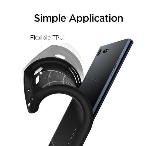 Spigen Galaxy Xperia XZ Premium Case Rugged Armor Black ORIGINAL