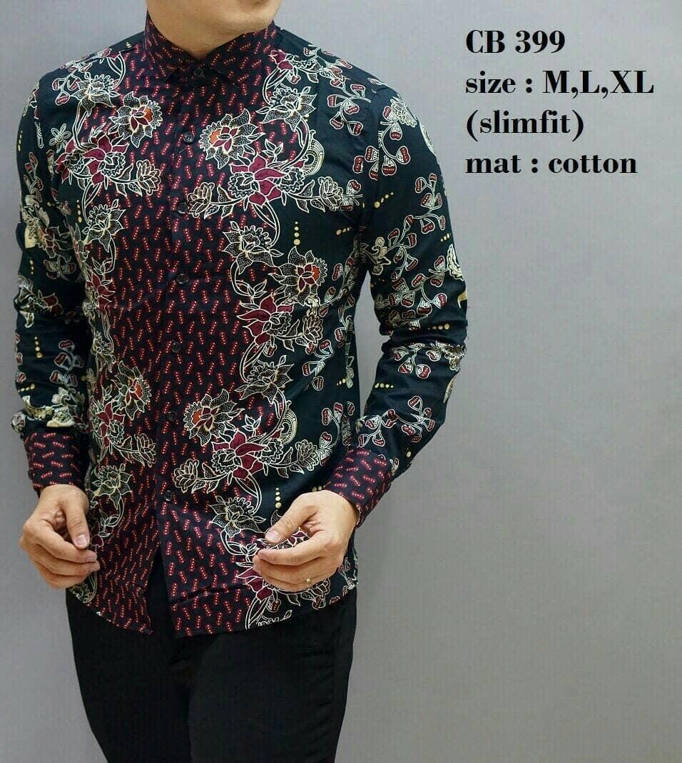 Model Desain Baju Batik Pria Lengan Panjang | Gejorasain