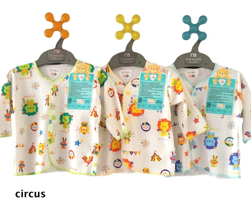 Libby 3pcs Baju Lengan Panjang Motif 3 - 6 Bulan - Blanja.