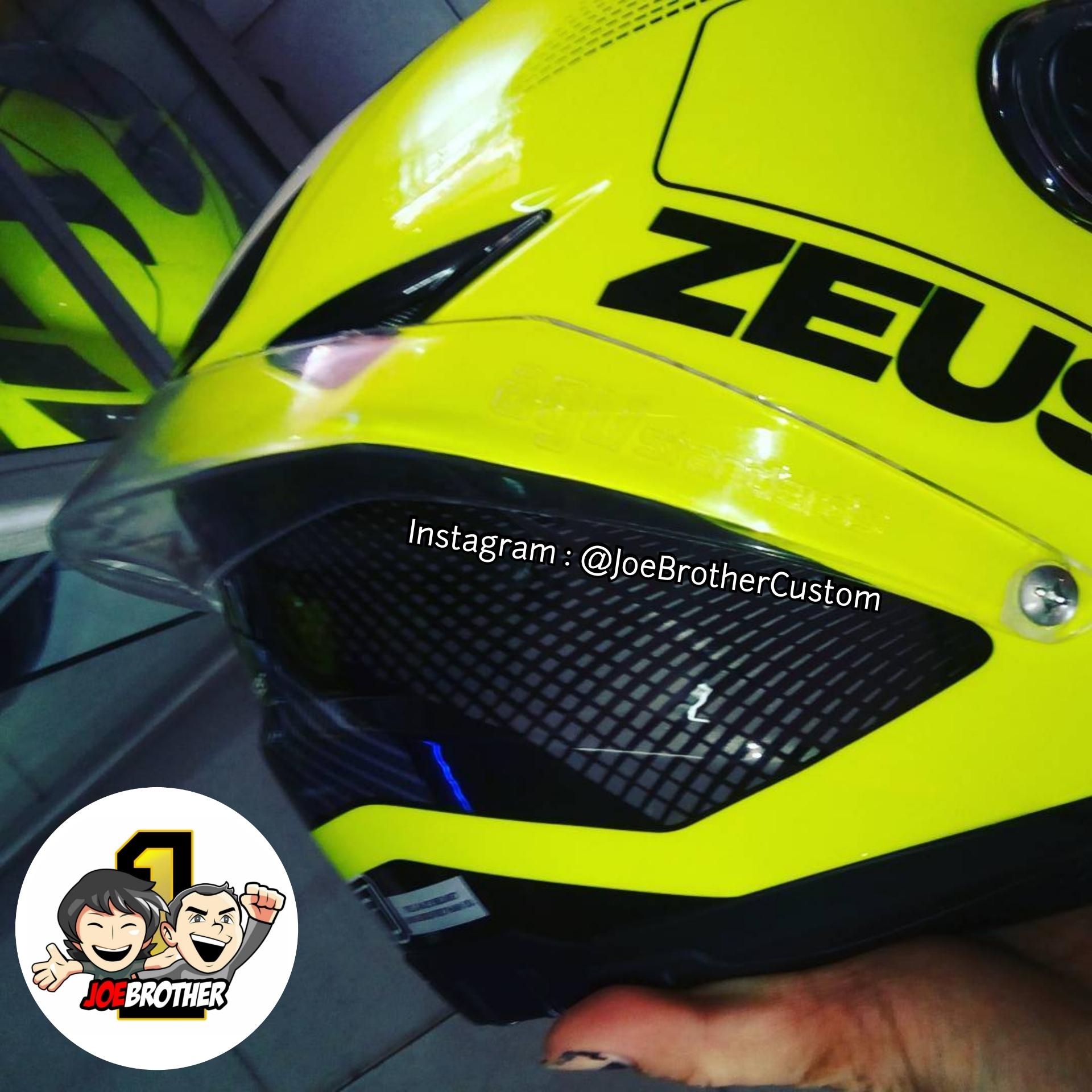 Jual Spoiler Helm Zeus Z811 Ash Cycles Zs811 Black Al12 Red