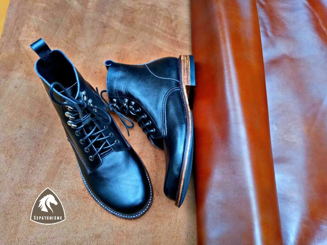 Avkash Sepatu Kulit Custom Pria Boots Casual
