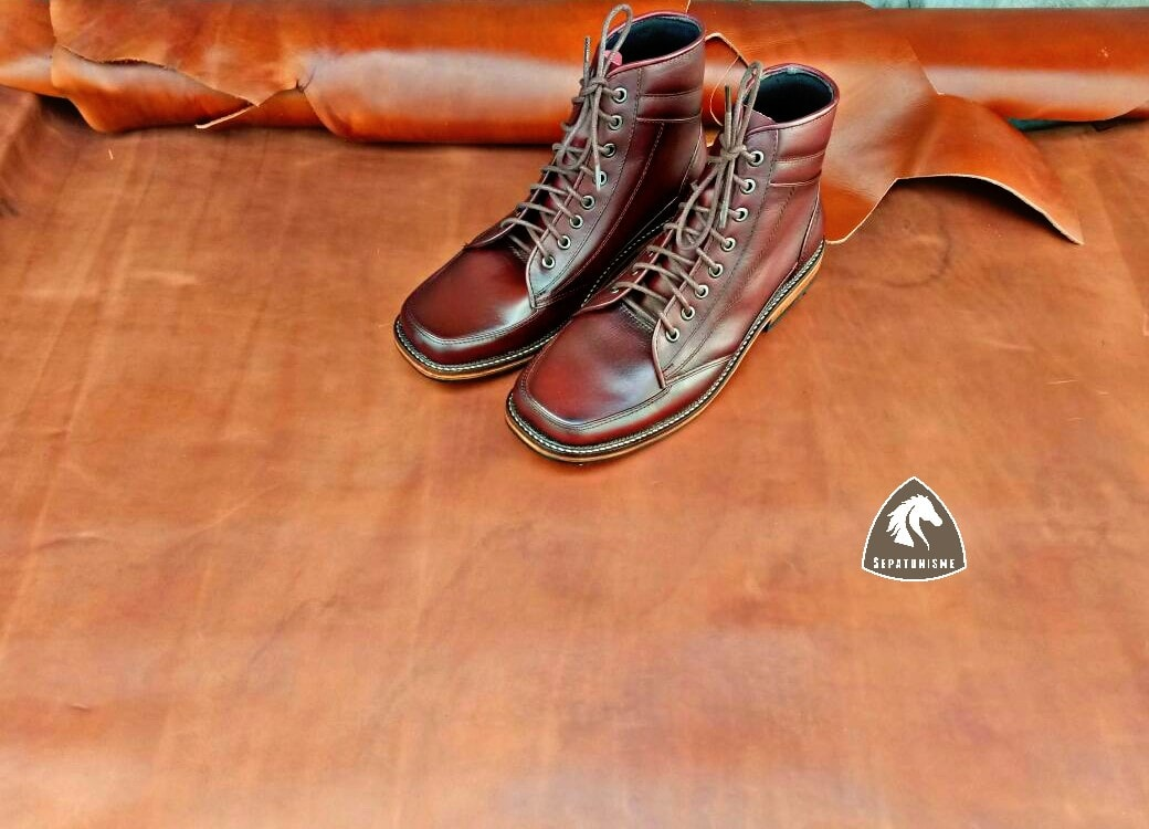 Abhiraj Boots Casual Sepatu Kulit Custom Pria