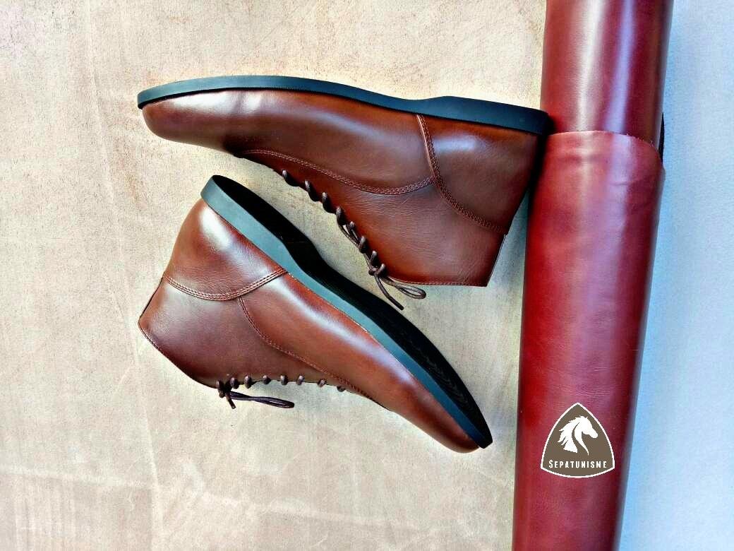 Bhanuprasad Brodo Casual Sepatu Kulit Custom Pria