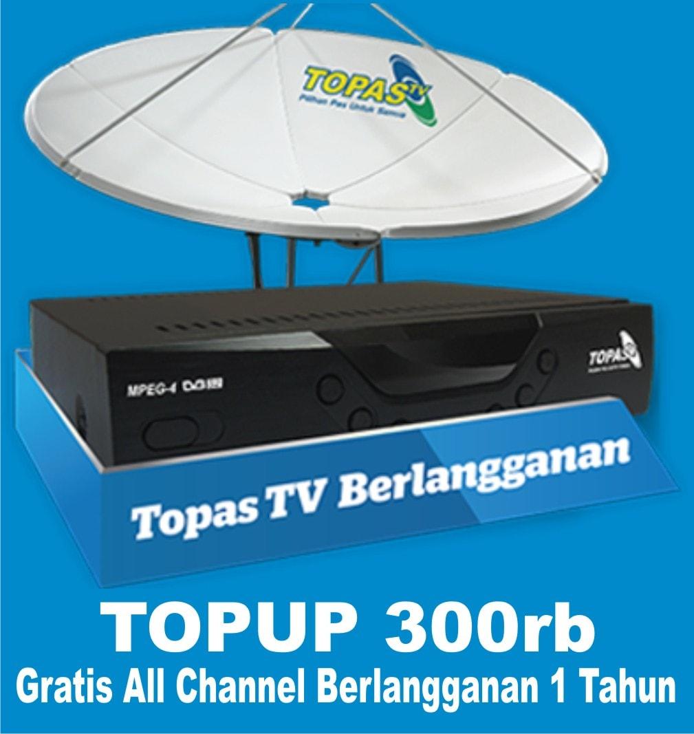 Jual Topup 1 Thn Topas Tv Berlangganan Paragilabola Tokopedia Voucher Topastv Paket Basic Tahun