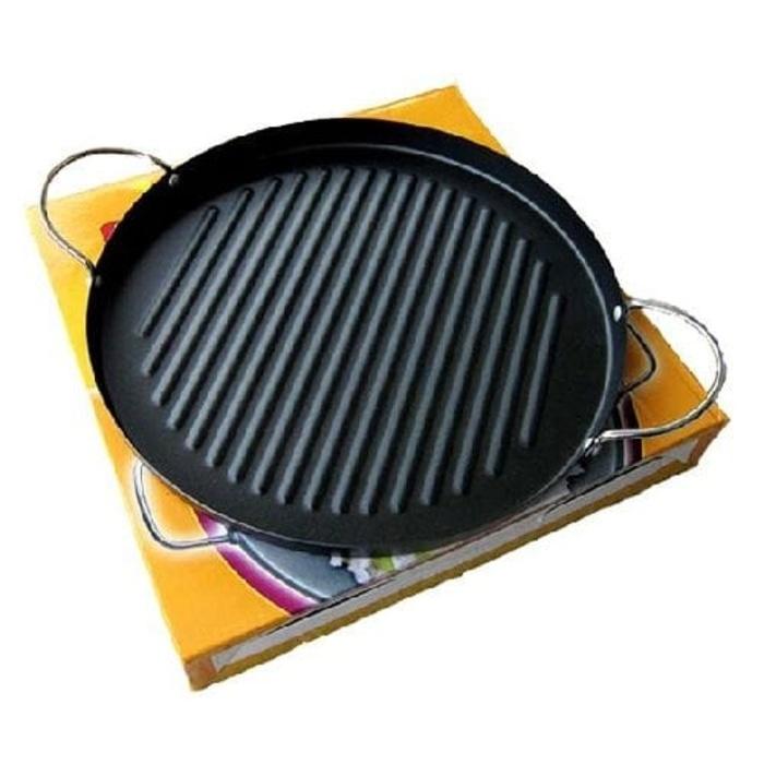 Grill Pan Panggangan Bulat  30x30x2 cm - Blanja.com