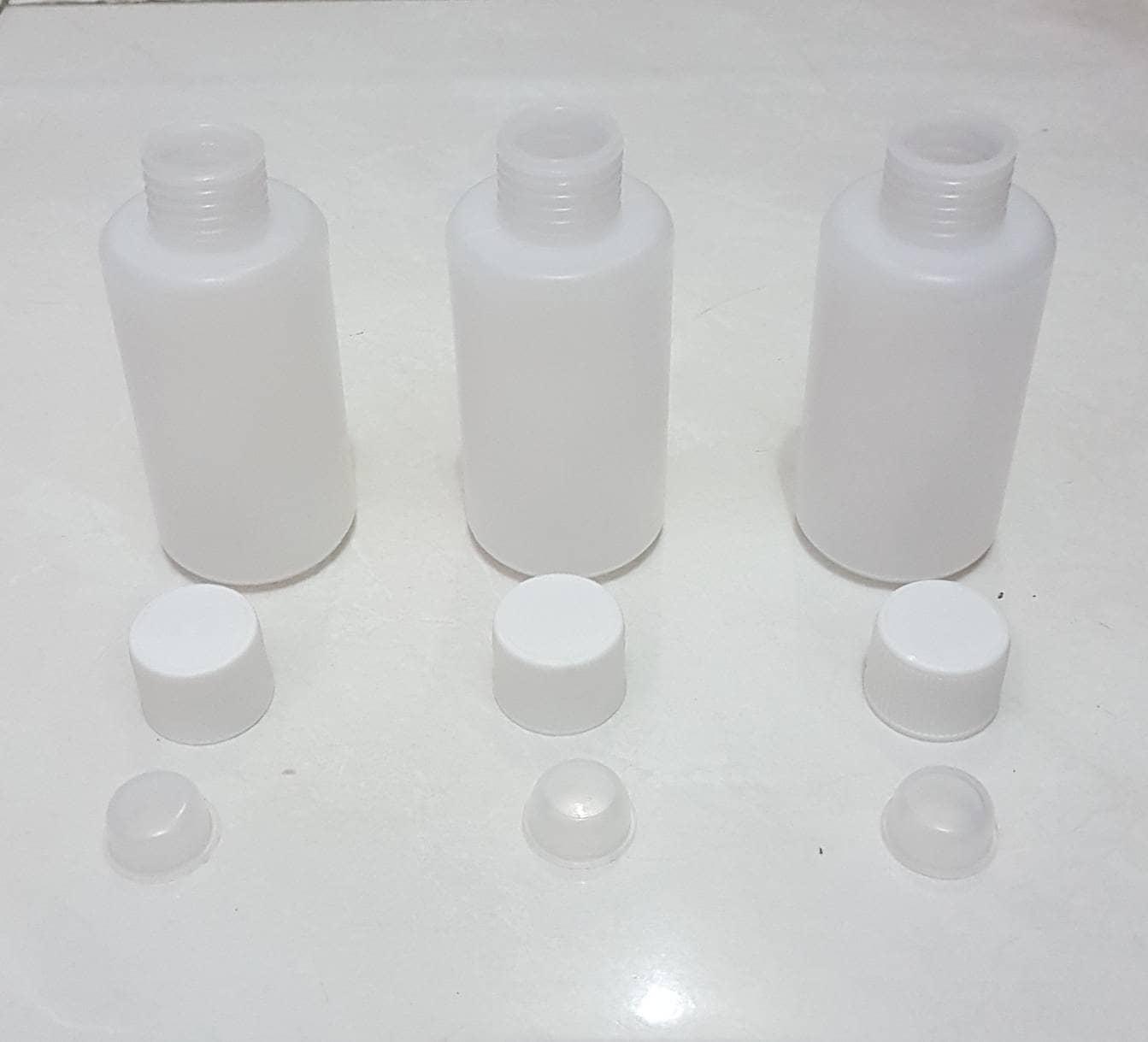 Jual Botol Plastik 100ml Hdpe Puith Double Tutup Ulir Lebih Aman Topi Highlight