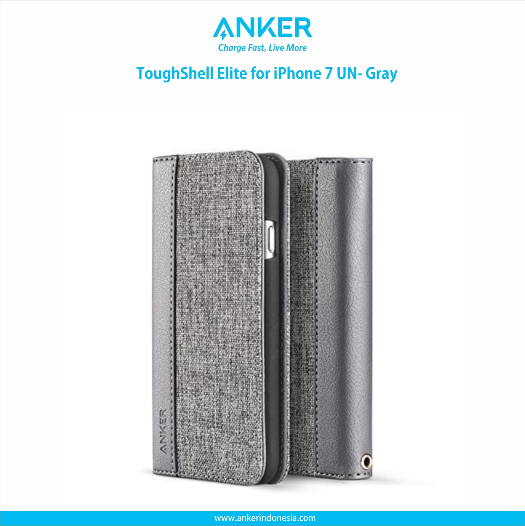 Promo Jual Anker Powerbank Aksesoris Gadget Tcash Vaganza 17 Fashion Blouse Atasan Toughshell Elite For Iphone 7 Un Gray A70600a1