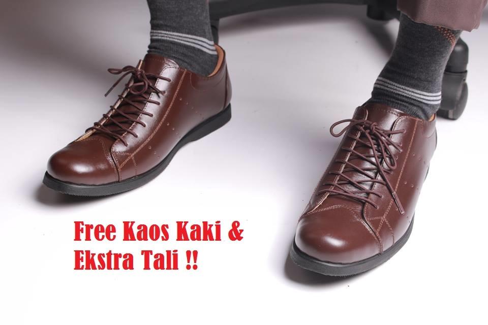 Sepatu kulit pantofel kantor pria Merk Boston (Adidas,kickers,nike)