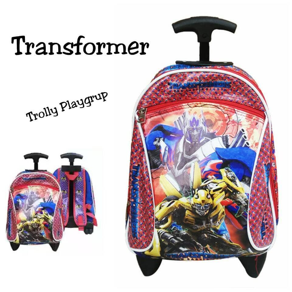 Tas Trolly Transformer Paud Playgrup Troli Dorong Sponge Kado Anak