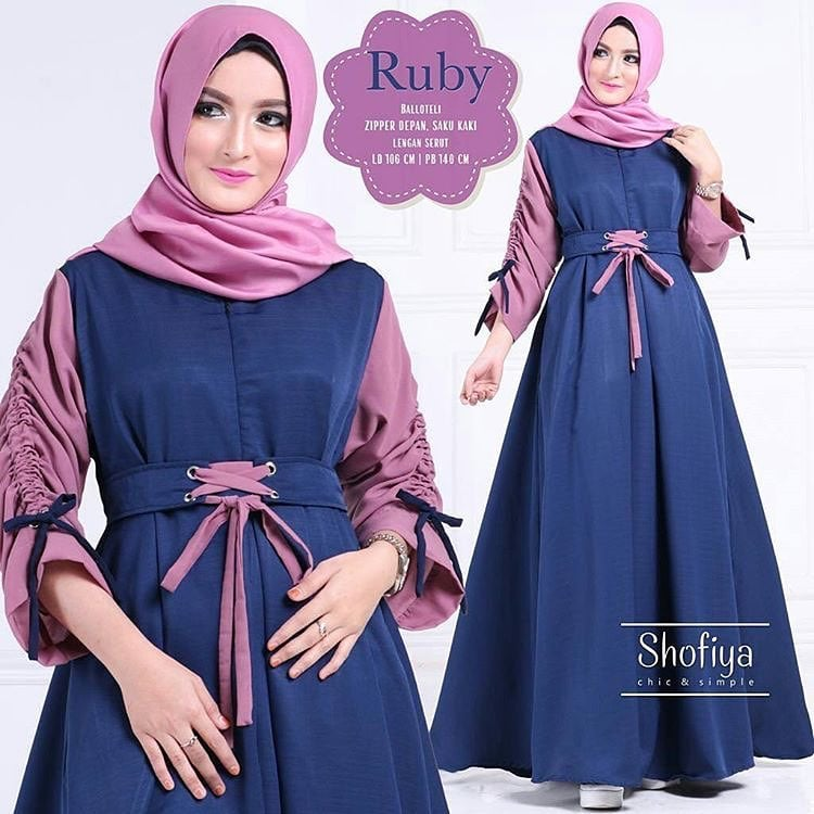 Diskon Best Seller! Baju Atasan Pakaian Wanita Gamis Hijabers Ruby ... b8e3d5971b