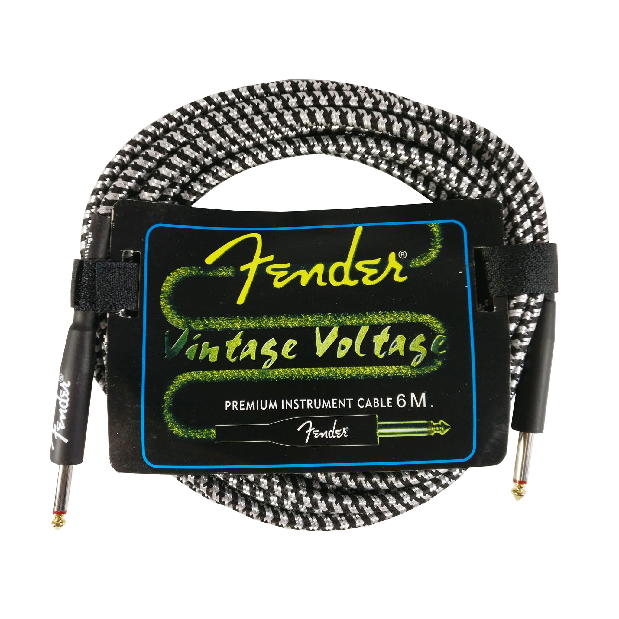 Kabel Jack Fender 6 Meter Vintage Voltage White Kabel Gitar dan Bass - Blanja.com