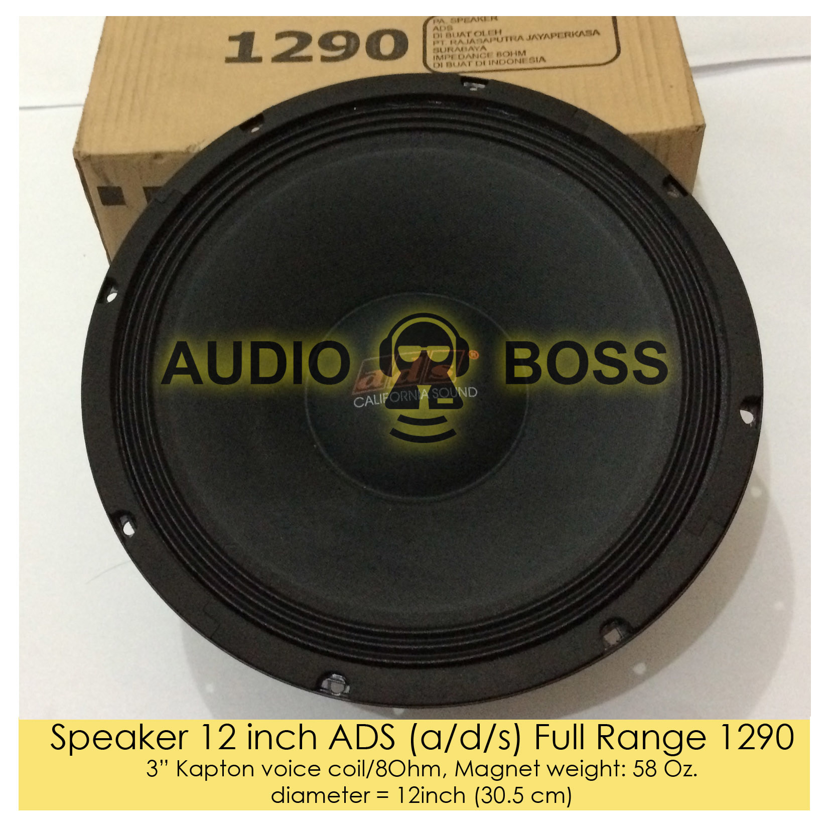 Jual Speaker Ads Full Range 12 Inch 1290 Audio Boss Tokopedia