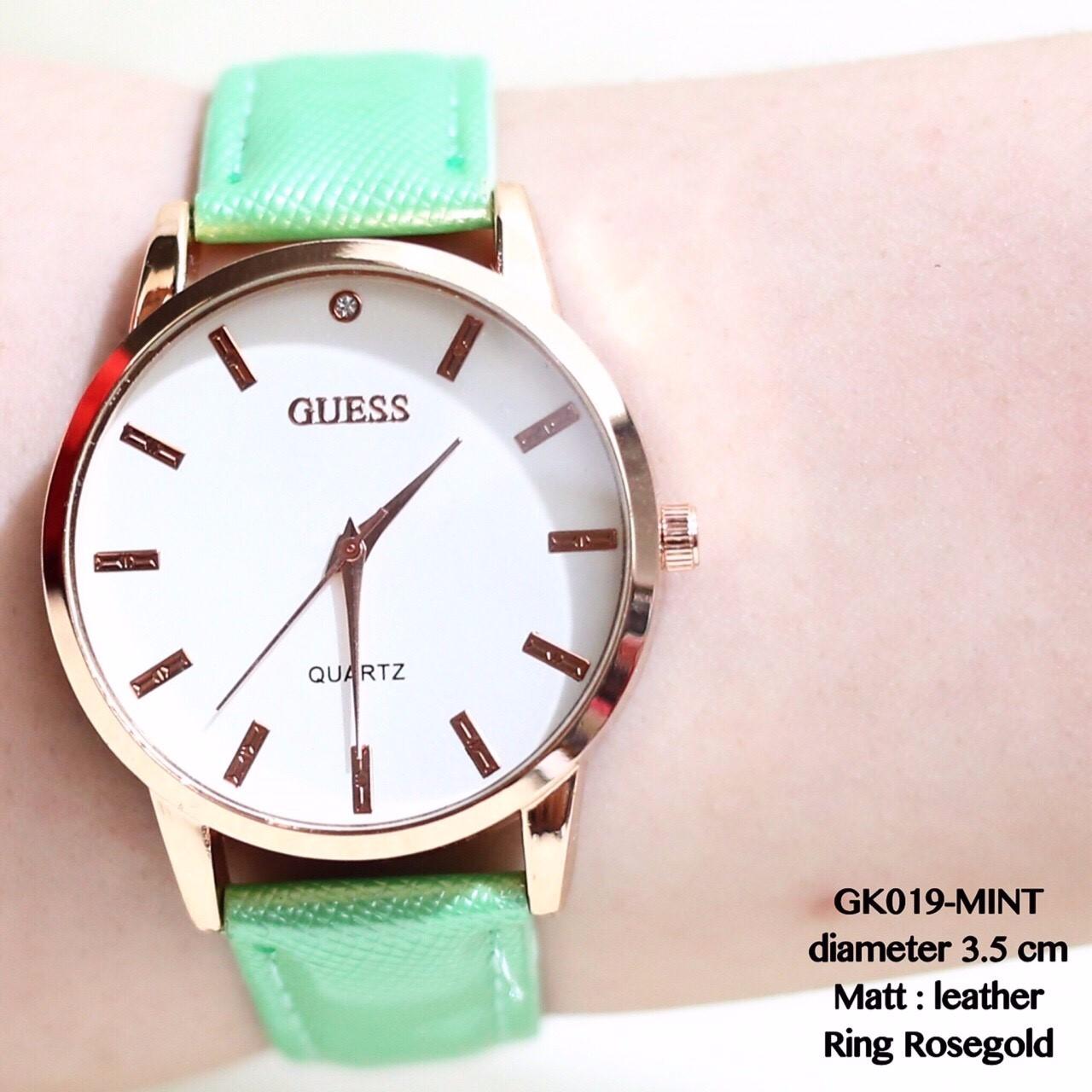 grosir supplier jam tangan kulit cewe wanita plat kayu casual termurah fa454dcf1a
