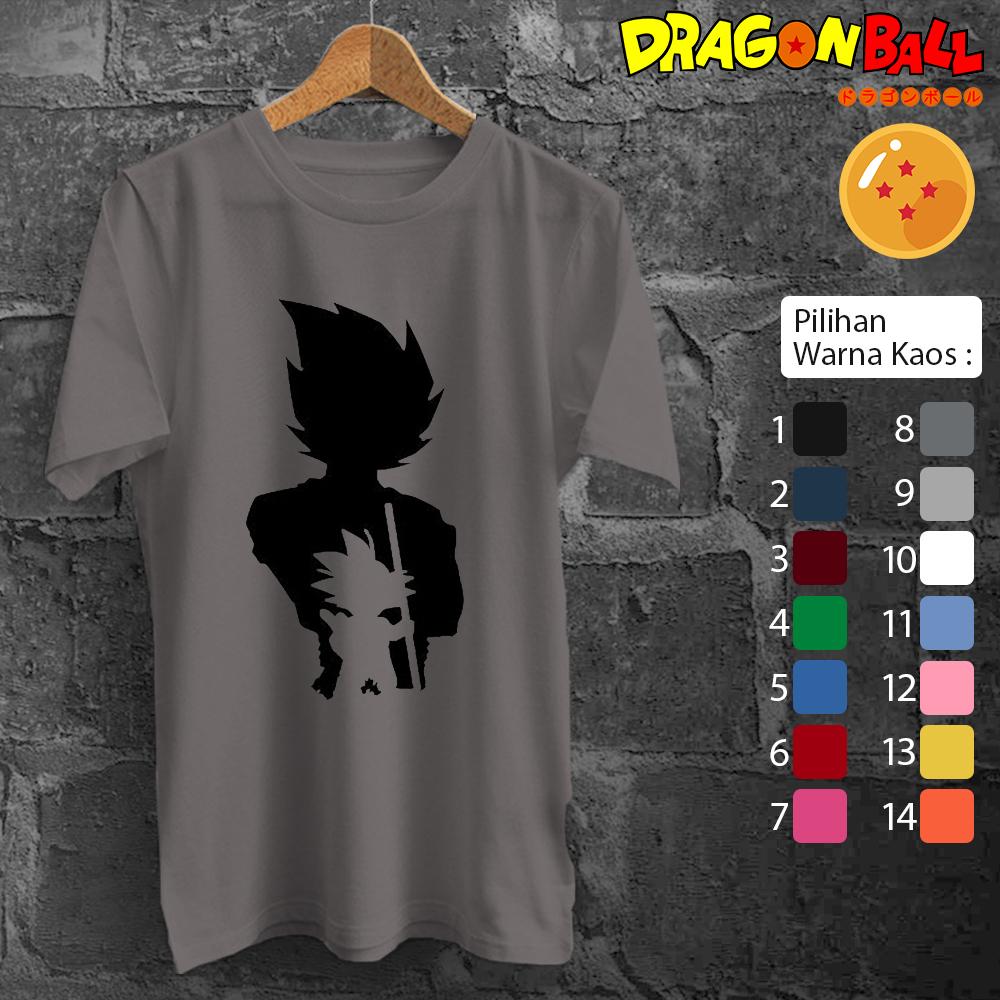 Jual baju kaos t shirt dewasa anak anime dragonball siluet 13 raja kaos anime tokopedia