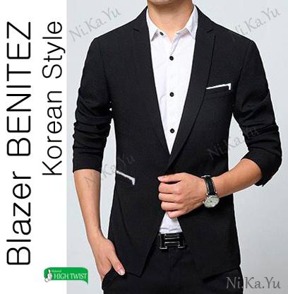 harga Blazer Pria Benitez - Jas Pria Slimfit Korea Casual New Style Blanja.com